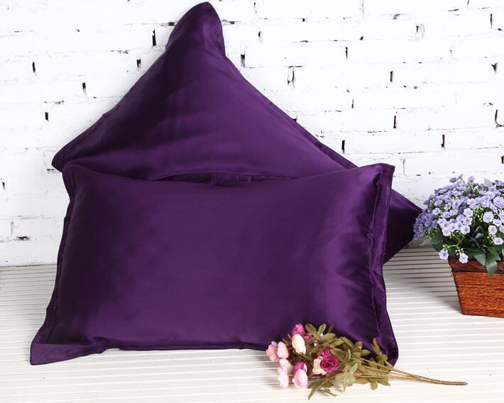 Fantastisk Silke Pudebetræk 36x54cm. - 100% silke, Flere Farver! BL19
