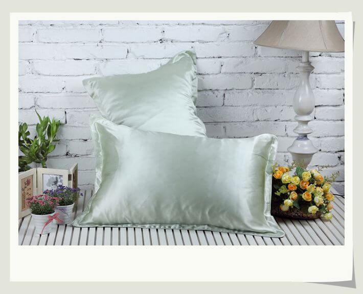 Lige ud Silke Pudebetræk 36x54cm. - 100% silke, Flere Farver! FA95