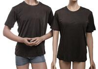 Silk T-shirt Brown