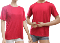 Silk t-shirt red